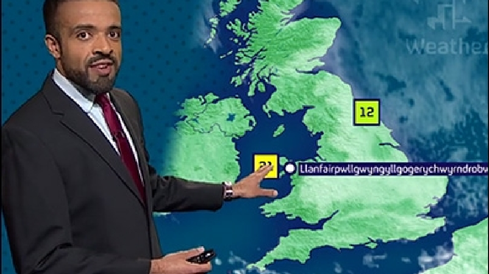Welsh weather forecaster nails pronunciation of 58-letter town
